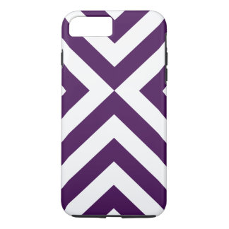 Purple and White Chevrons iPhone 7 Plus Tough Case