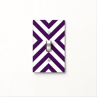 Purple and White Chevrons Light Switch Cover