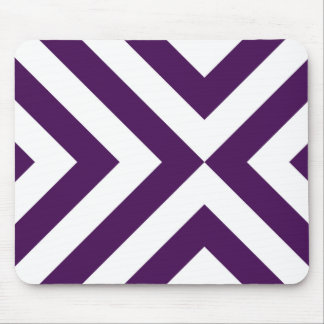 Purple and White Chevrons Mousepad