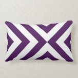 Purple and White Chevrons Pillows