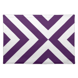Purple and White Chevrons Place Mats