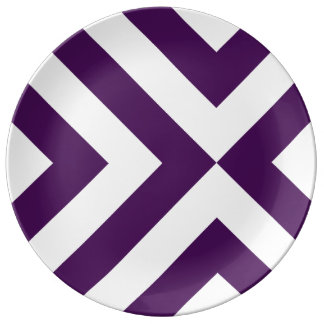 Purple and White Chevrons Plate