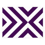 Purple and White Chevrons Post Card