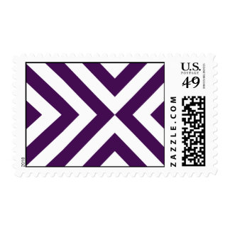 Purple and White Chevrons Postage Stamps