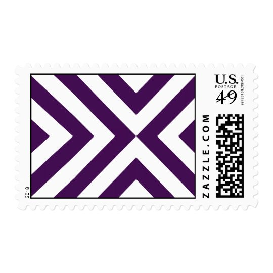 Purple and White Chevrons Postage
