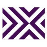 Purple and White Chevrons Postcard