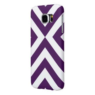 Purple and White Chevrons Samsung Galaxy S6 Case