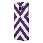 Purple and White Chevrons Samsung Galaxy S6 Cases