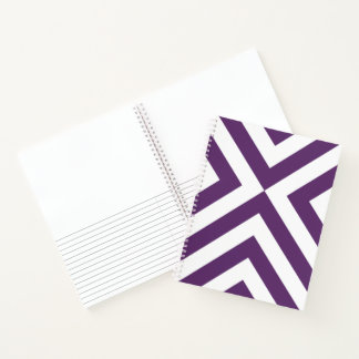 Purple and White Chevrons Sketch Notes Notebook