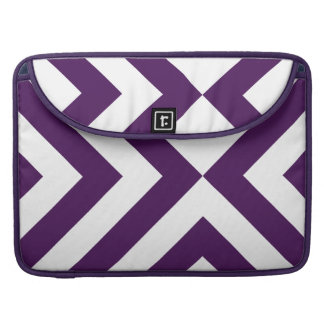 Purple and White Chevrons Sleeve For MacBook Pro