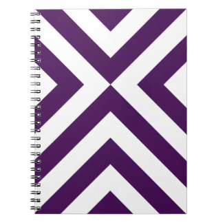 Purple and White Chevrons Spiral Notebook