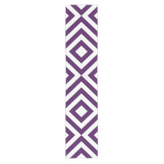 Purple and White Chevrons Table Runner