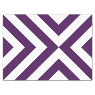 Purple and White Chevrons Tissue Paper