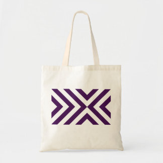 Purple and White Chevrons Tote Bag