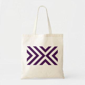 Purple and White Chevrons Tote Bag