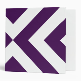 Purple and White Chevrons Vinyl Binder