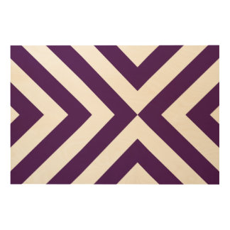 Purple and White Chevrons Wood Wall Art