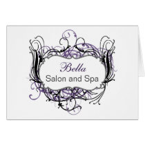 purple and white Chic Business Thank You Cards