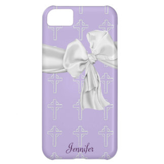 Purple and White Christian iPhone 5 Case