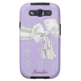 Purple and White Christian Samsung Galaxy Case Galaxy S3 Cover