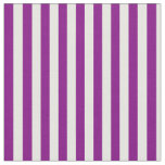[ Thumbnail: Purple and White Colored Lined/Striped Pattern Fabric ]