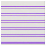 [ Thumbnail: Purple and White Colored Lines/Stripes Pattern Fabric ]