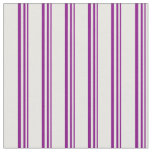 [ Thumbnail: Purple and White Colored Striped/Lined Pattern Fabric ]