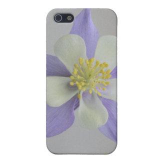 Purple and White Columbine 4/4s iPhone SE/5/5s Case