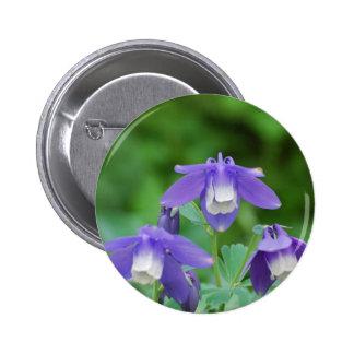 Purple and White Columbine Pin