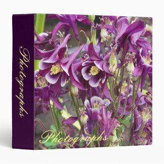 Purple and White Columbines Photo Binder
