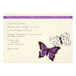Purple and White Cool Butterfly Wedding Invitation
