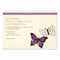 Purple and White Cool Butterfly Wedding Invitation (<em>$2.75</em>)