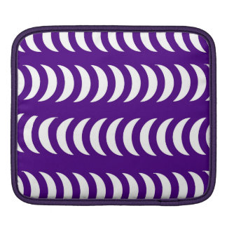 Purple And White Crescent Moons iPad Sleeves