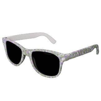 Purple and White Crocuses Sunglasses