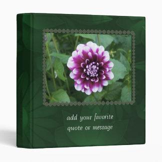 Purple and White Dahlia Binder