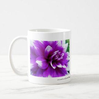 Purple and White Dahlia Coffee Mug