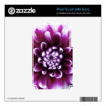 Purple and White Dahlia iPod Touch 4G Decal
