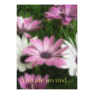 Purple and White Daisies 2 Watercolor Card