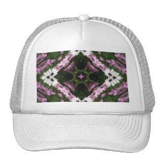 Purple and White Daisies Kaleidoscope 10 Trucker Hat