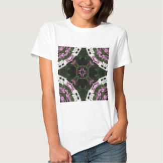 Purple and White Daisies Kaleidoscope 11 T-shirt