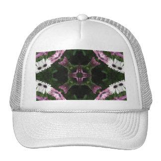 Purple and White Daisies Kaleidoscope 11 Trucker Hat