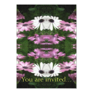 Purple and White Daisies Kaleidoscope 12 Card