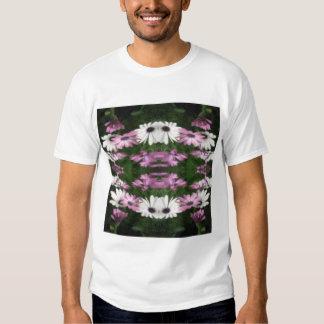 Purple and White Daisies Kaleidoscope 12 T-shirt