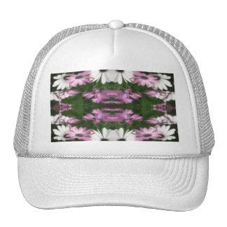 Purple and White Daisies Kaleidoscope 12 Trucker Hat