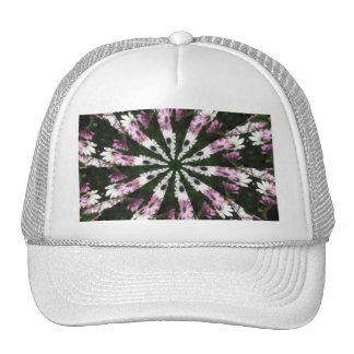 Purple and White Daisies Kaleidoscope 1 Trucker Hat