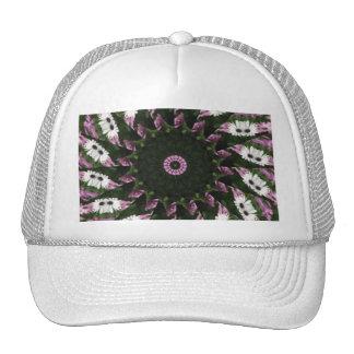 Purple and White Daisies Kaleidoscope 3 Trucker Hat