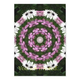 Purple and White Daisies Kaleidoscope 4 Card