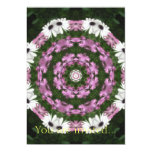 Purple and White Daisies Kaleidoscope 4 5x7 Paper Invitation Card