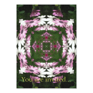 Purple and White Daisies Kaleidoscope 5 Card