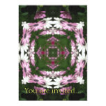 Purple and White Daisies Kaleidoscope 5 5x7 Paper Invitation Card